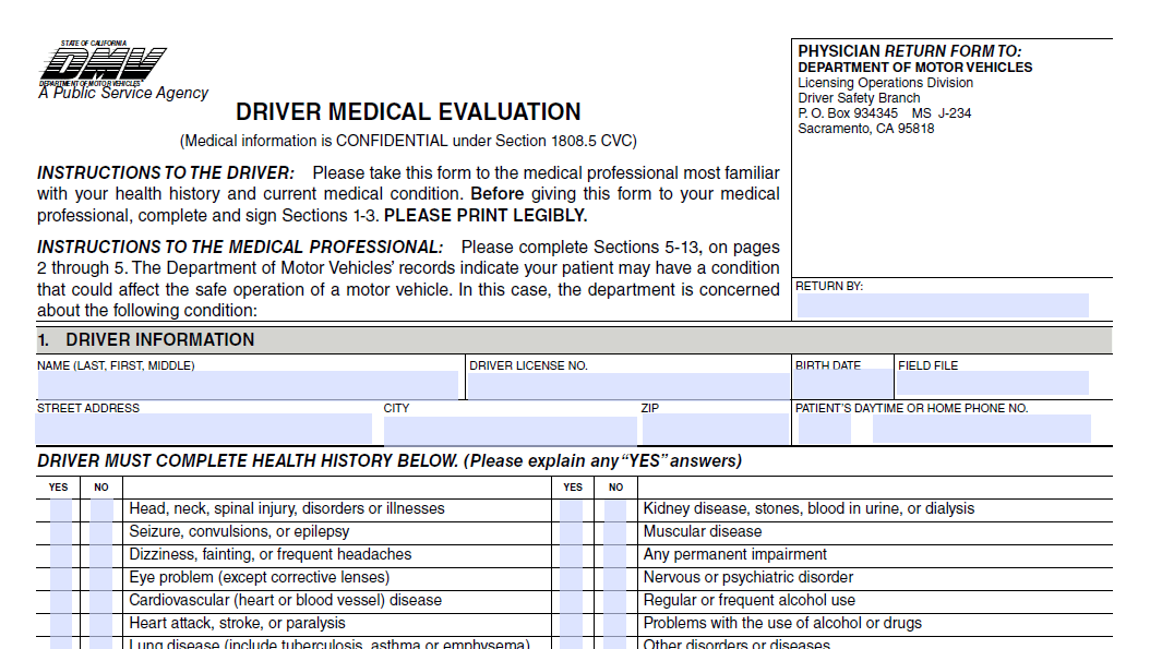 Notice of Driver Medical Evaluation - Quality Defense Now.
